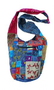 Hippy Bag~ Patchwork Multicolour Bohemian Embroided Shoulder Bag In Assorted Colours~ Folio Gothic Hippy